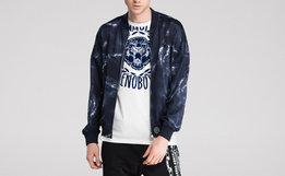 3折!BURANDO ENO拉链撞色绒面大logo两色男外套夹克