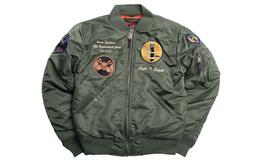新品用劵!Schott NYC徽章刺绣MA-1飞行夹克夹棉外套