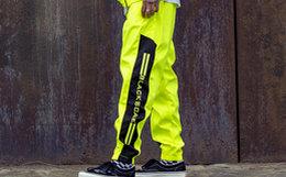 9折!BLACK SCALE复古拼接撞色宽松束腿裤男女运动裤