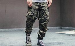 9折!Mostwantedlab 迷彩插扣腰带盖袋男机能工装束脚裤