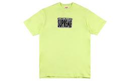 新品!SUPREME脏话字母印花圆领宽松男女短袖T恤