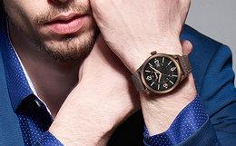 100劵!Timberland/添柏岚水晶玻璃镜片防水皮带男手表