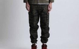 余文乐MADNESS ARMY军旅风大贴袋迷彩工装裤
