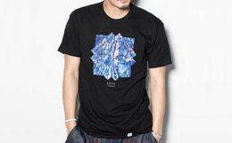冰点价2.4折!美潮DOPE冰色几何图案印花短袖T恤