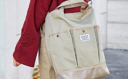 4.8折!Dickies网袋拼接大容量男女单肩包斜挎包