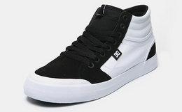 8.8折!美国DCSHOECOUSA×EVAN SMITH联名款黑白高帮滑板鞋