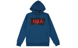 美潮Hood By Air(HBA)暗黑风大LOGO连帽卫衣