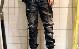 4折!蓝布屋KRBL原创设计蓝修身牛仔裤692BR