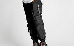OUTERSPACE可变短织带拼接撞色两穿机能束脚工装裤