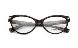 4.3折!COACH/蔻驰棕色纹理猫眼形眼镜架