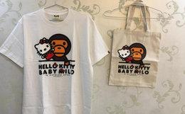 BAPE hellokitty联名男款T恤 日本制(包+TEE)