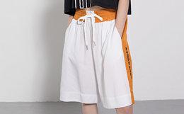 8折!好莱坞潮牌 JOYRICH 织带拼色拳击运动风男女短裤