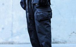 用劵!ENSHADOWER隐蔽者七袋直筒束脚裤宽松工装男裤