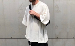 6.7折!FEAR OF GOD F.O.G 宽松纯色男女侧开叉短袖T恤