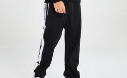7折!好莱坞潮牌 JOYRICH 拼色织带裤管拉链男女运动卫裤