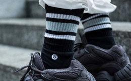 8.6折!STANCE/基础条纹素色缓震舒适百搭556中筒男袜