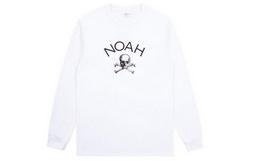 NOAH圆领经典骷髅LOGO印花男女同款长袖T恤