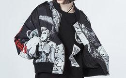 5.3折!美潮MishkaNYC卡通满印字母刺绣短款棒球服外套