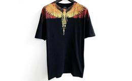 新品!Marcelo Burlon撞色线条翅膀印花男短袖T恤