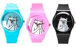 8折!美潮RIPNDIP贱猫INS爆款趣味简约多色手表
