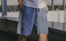 7.6折!714street刺绣蜡染直筒宽松水洗男工装裤短裤
