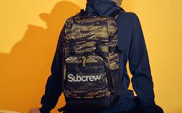 9折!李灿森潮牌 SubcrewSub系列虎纹迷彩双肩包男背包