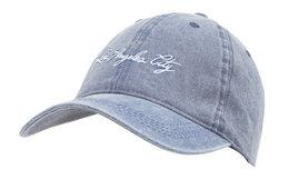 新品!西班牙PullAndBear Los Ángeles City印字弯檐棒球帽