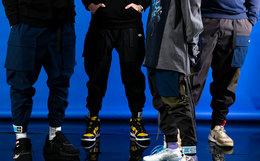 用劵!国潮FLOAT x XH55联名磁力扣魔术贴束脚裤工装男裤