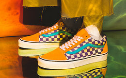 新品!Vans范斯加热变色系列拼接棋格纹情侣款低帮板鞋