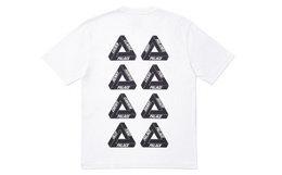新品7.9折!PALACE小标8个logo印花三角男女短袖T恤