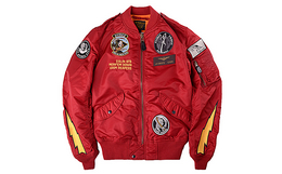 美国军牌 AVIREX镰刀幽灵多徽章L-2B男飞行夹克