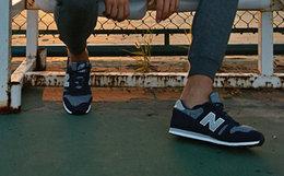4.8折!New Balance撞色拼接系带男女运动鞋复古跑鞋