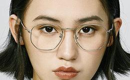 5折!音米复古文艺六边形金属眼镜框