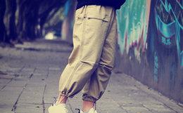 7.6折!MR.SCAREORCW 直筒宽松裤脚绑带男美式工装裤