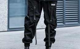 领劵优惠!ENSHADOWER 隐蔽者李现同款三角绑带男工装裤