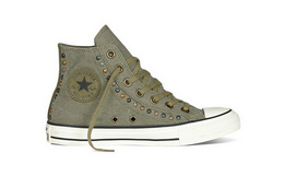 4折!CONVERSE匡威All Star做旧彩色铆钉帆布鞋551568C