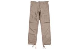 Carhartt WIP直筒贴布口袋纯色男宽松工装长裤