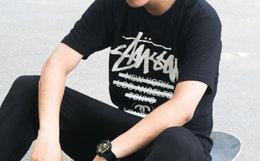 美潮 Stussy 斯图西世界巡游横条胶带涂改男女短袖T恤