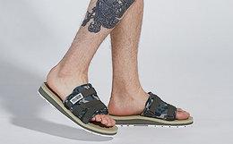 新品7.4折!PALLADIUM帕拉丁迷彩布面男女凉拖鞋沙滩鞋
