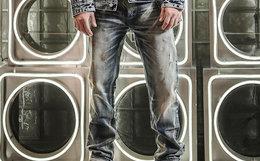 6.2折!KRBL蓝布屋修身水洗赤耳丹宁做旧牛仔裤640R
