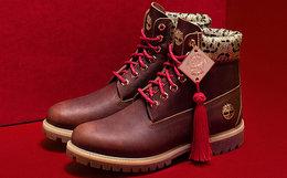 新品!Timberland添柏岚2018SS新年款中国风民族花纹高帮马丁靴